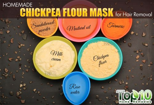 chickpea four hair removal mask