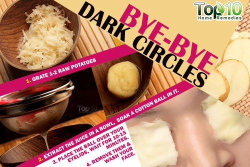 Potato home remedy for dark circles