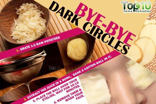 Potato home remedy for dark circles