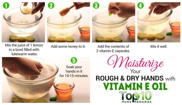 vitamin E for dry hands