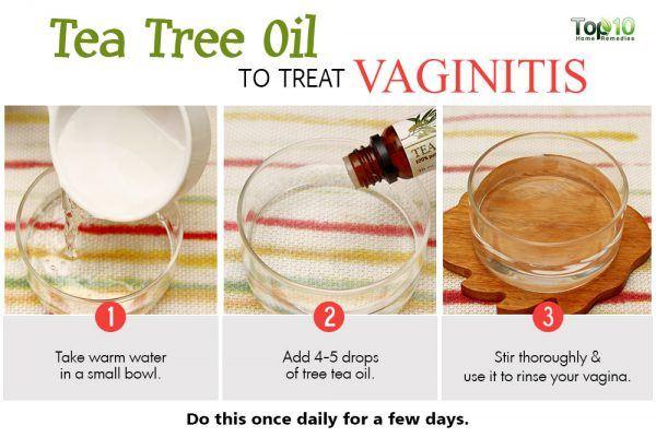 use tea tree oil to treat vaginitis