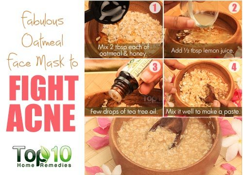 oatmeal to fight acne