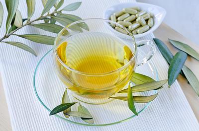 оливковых листьев чая