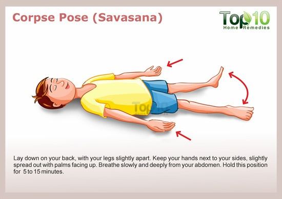 Corpse pose for yoga