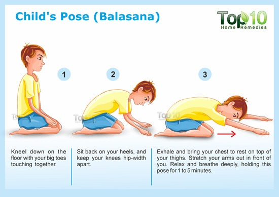 Child's Pose for yoga Balasana