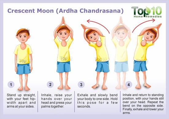 crescent moon yoga pose