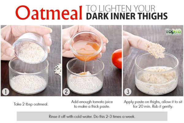 oatmeal remedy for dark inner thighs