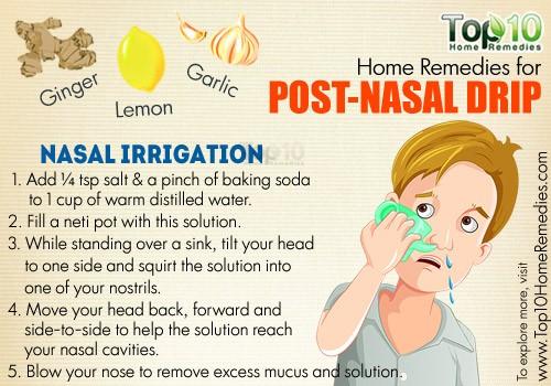 Mucus draining down throat