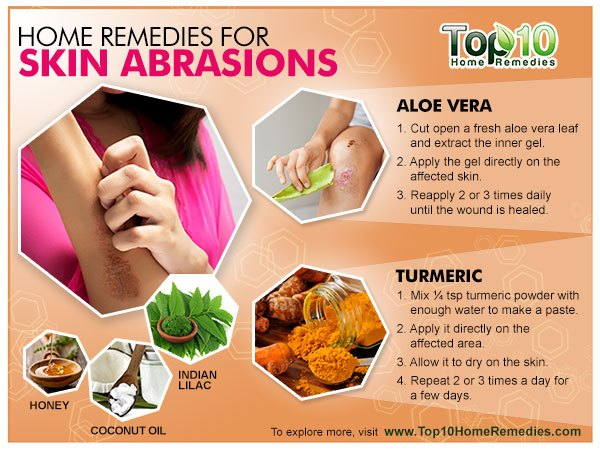 home remedies for skin abrasions