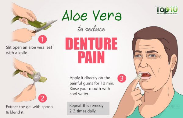 aloe vera for denture pain