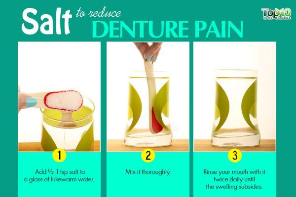 salt remedy for denture pain