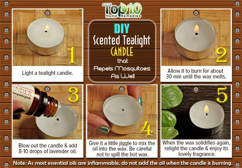 scented tealight candle