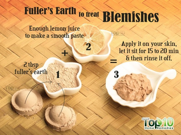 fuller's earth remedy for blemishes