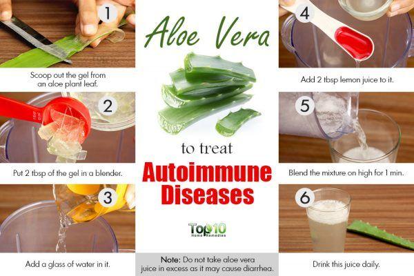 take aloe vera juice for autoimmune disease