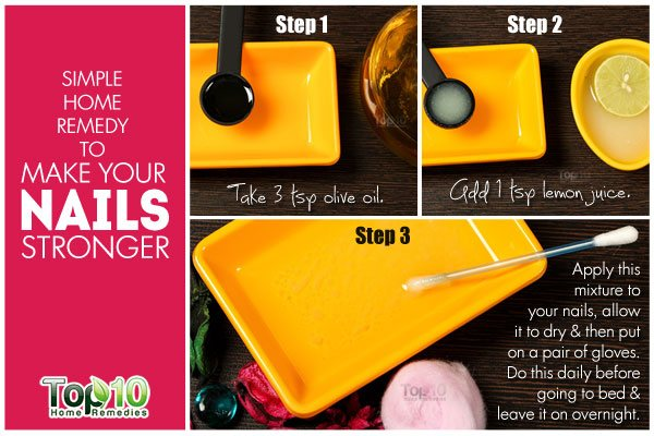 diy olive oil remedy to get strong nails