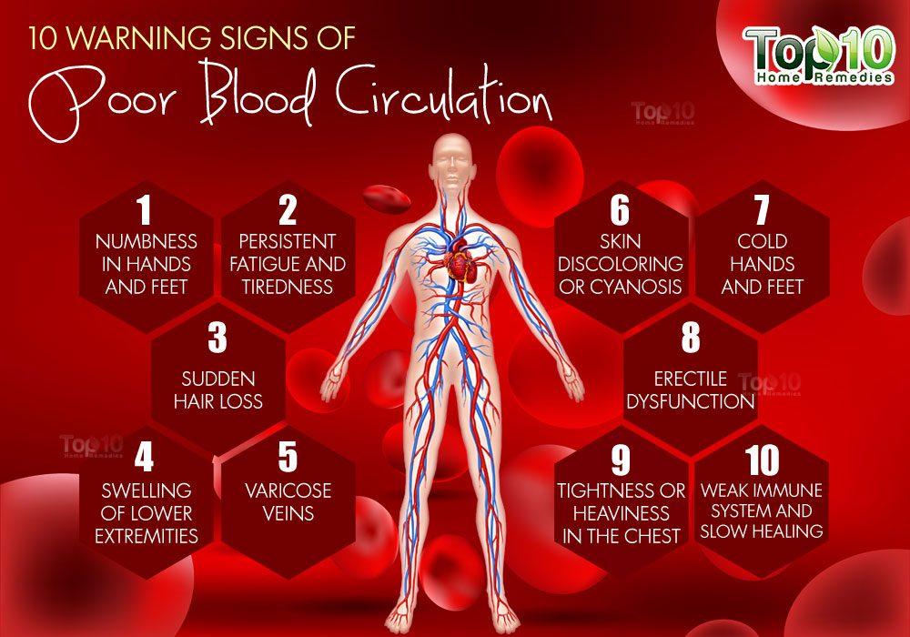 10 Warning Signs of Poor Blood Circulation | Top 10 Home Remedies
