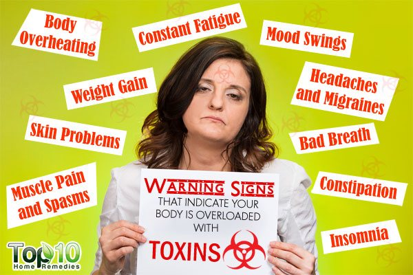 warning signs that your body is overloaded with toxins