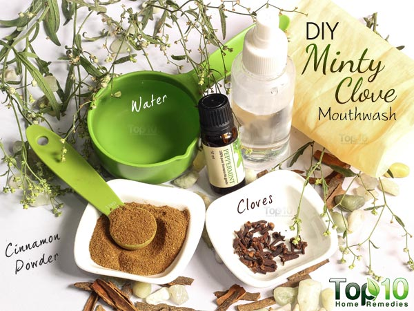 DIY minty mouthwash ingredients