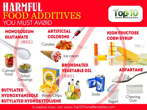 harmful food additives