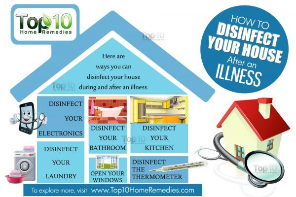 how to disinfect your house after an illness
