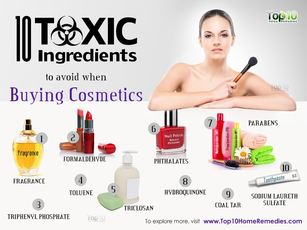 תוצאת תמונה עבור harmful ingredients in cosmetics