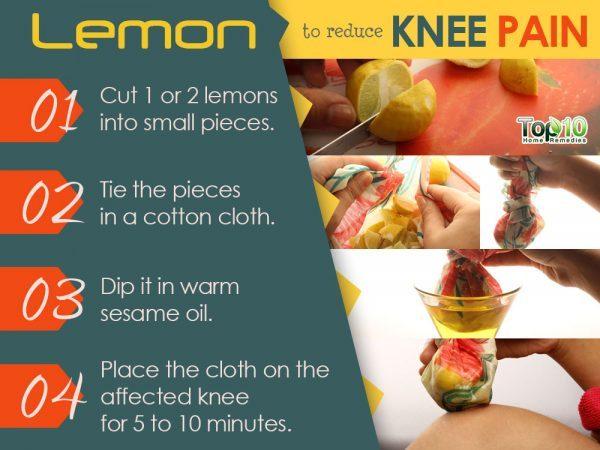 lemon and sesame oil remedy for knee pain