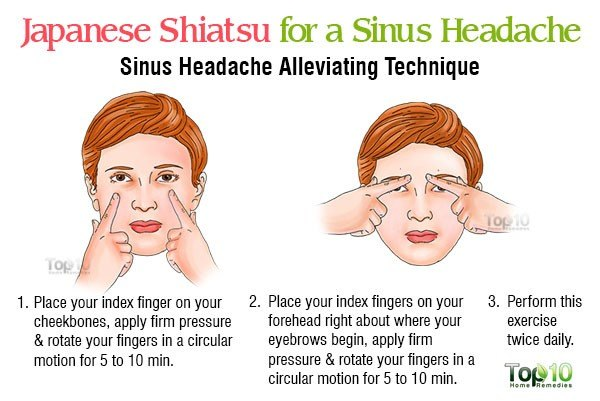 Shiatsu for a Sinus-Headache