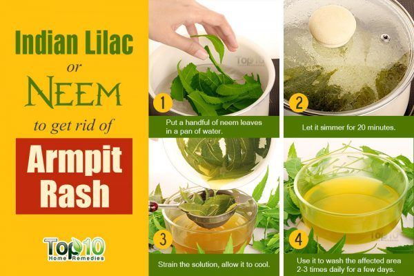 Use Neem Leaves to Treat Armpit Rash