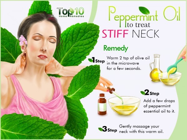 peppermint oil to treat stiff neck