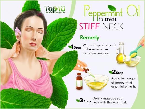 peppermint oil to treat stiff neck