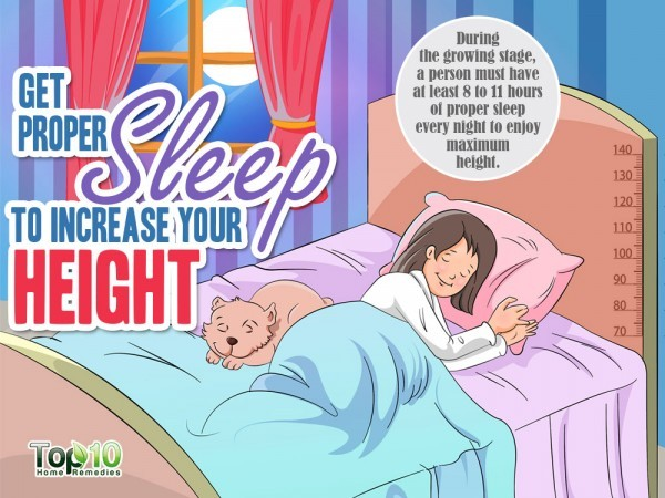 proper sleep to increase height