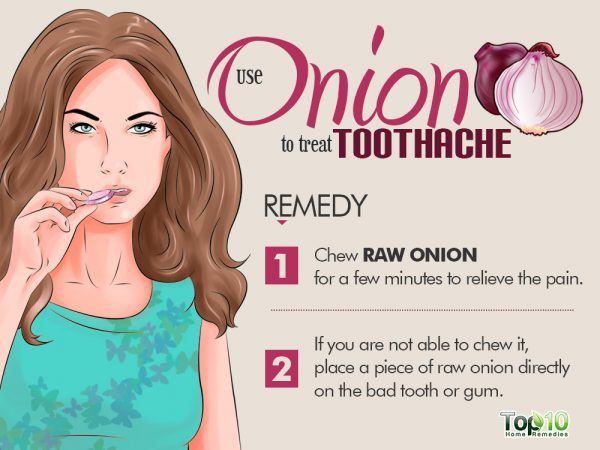 onion remedy for tooth pain