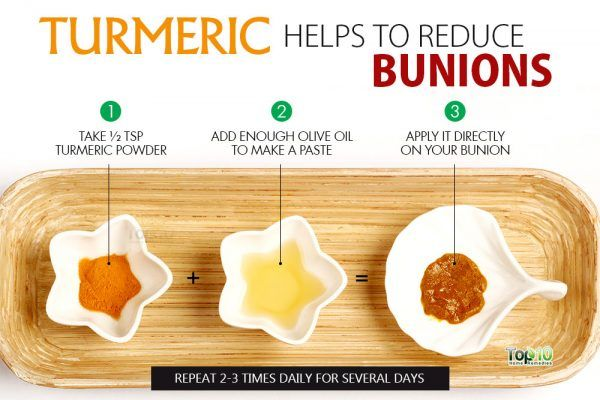 use turmeric to heal bunions