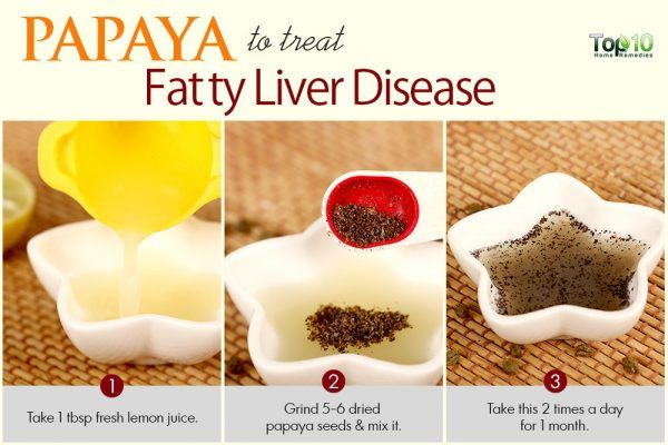 papaya seeds to treat fatty liver disease