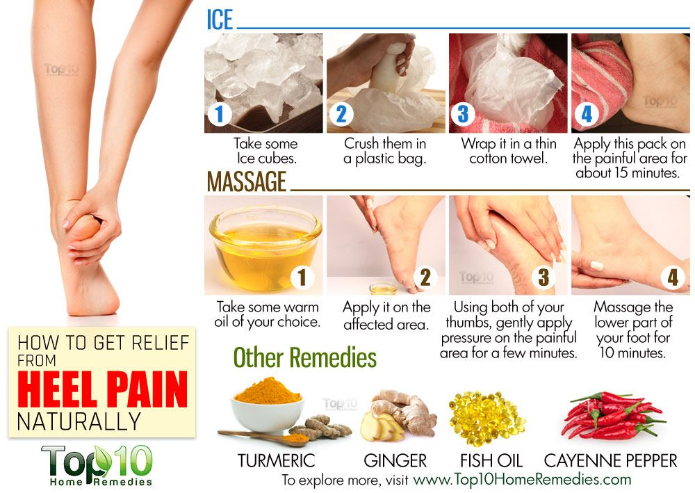 How To Get Relief From Heel Pain Naturally Top 10 Home Remedies