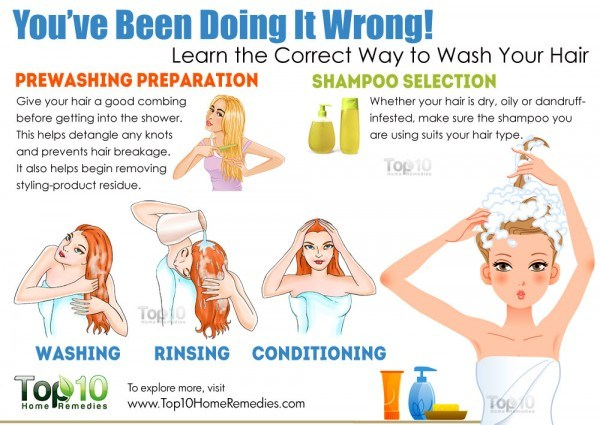 wash your hair the correct way