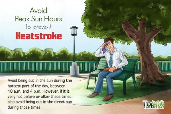 avoid peak sun