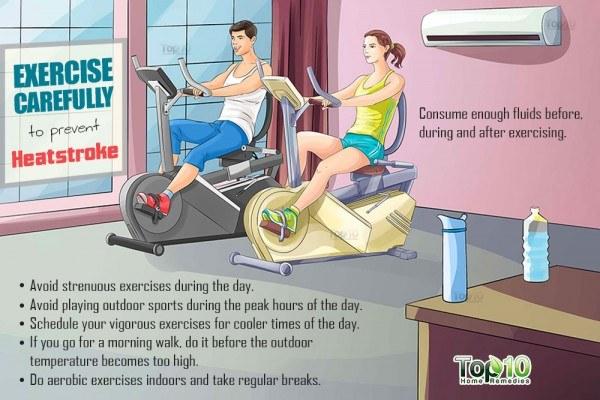 exercise carefully