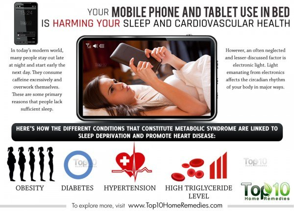 mobile phone use before bed is harmful