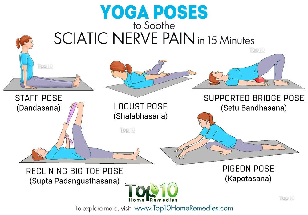 Yoga Poses to Soothe Sciatic Nerve Pain in 15 Minutes ...