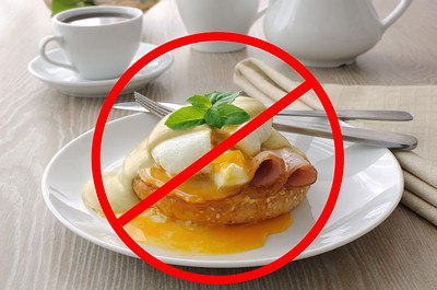 avoid undercooked meat and eggs
