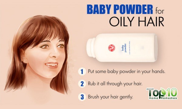 baby powder for oily hair