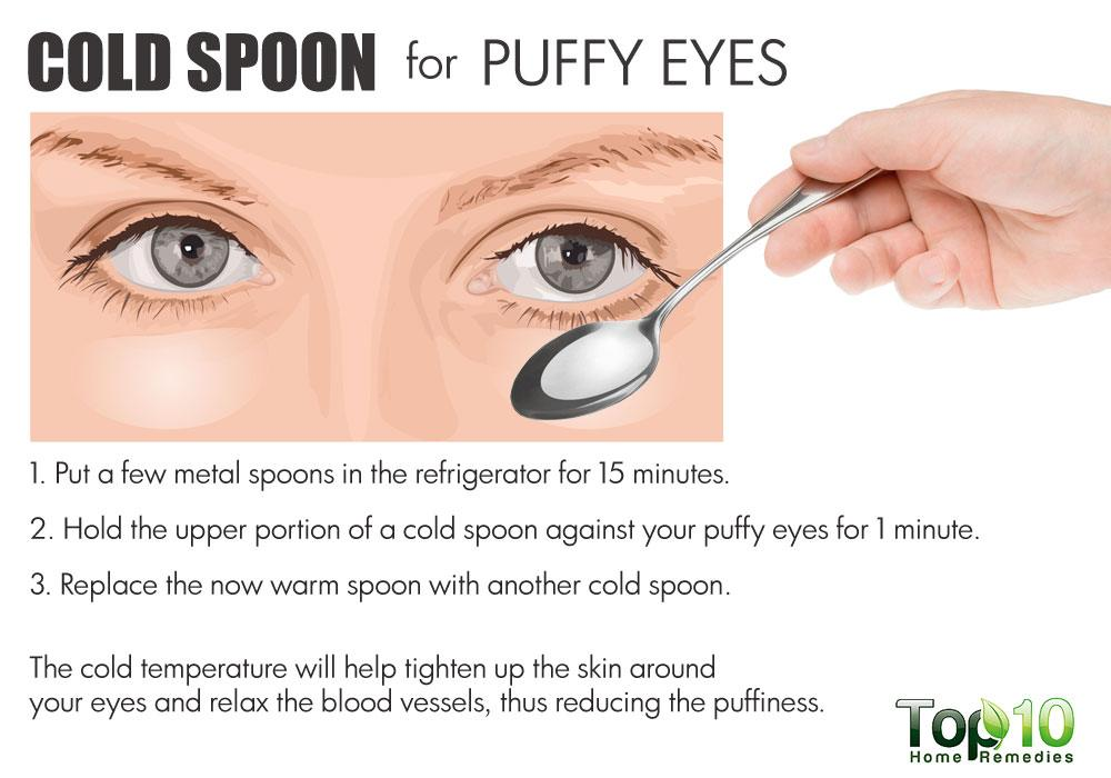 cold spoon for puffy eyes