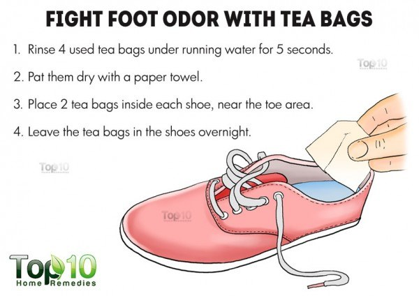 tea bags for foot odor