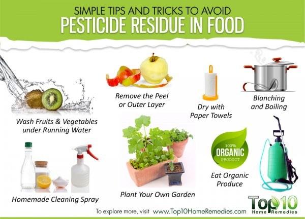 remove pesticide residue
