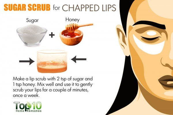 sugar scrub for chapped lips