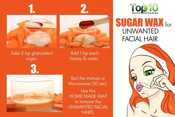 sugar wax for unwanted facial hair