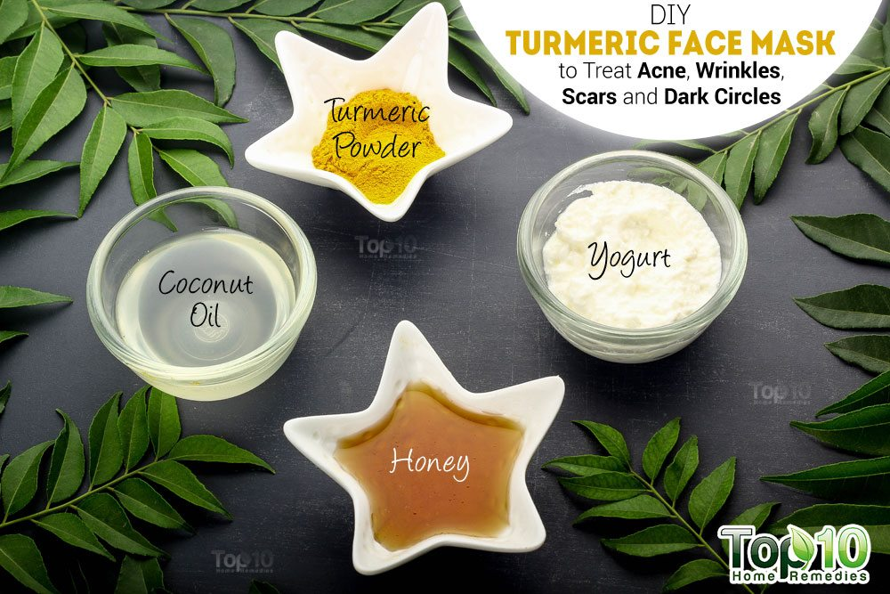 diy turmeric face mask to treat acne wrinkles scars and