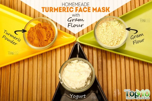 things you need for turmeric gram flour face mask