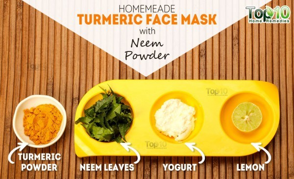 things you need for turmeric neem face mask